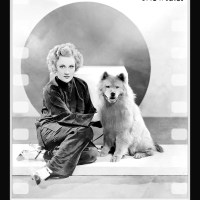 MARGARET PERRY 1930's actress and her chow