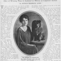 1924 ARTICLE – The Ledgeland's Kennels of Mrs David Wagstaff