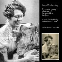 Photo Restoration – Early 20th Century Woman with her adoring chow