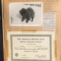 CIRCA 1920'S -1940'S CHOW SCRAPBOOK AND ALBUM donated by Mike and Ruth Kepner