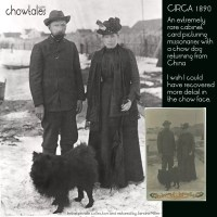 Rare 1890 photo of missionaries returning from China with a Chow dog