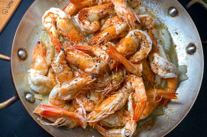 西班牙國民小菜 橄欖油蒜味蝦 Gambas al Ajillo(影片示範