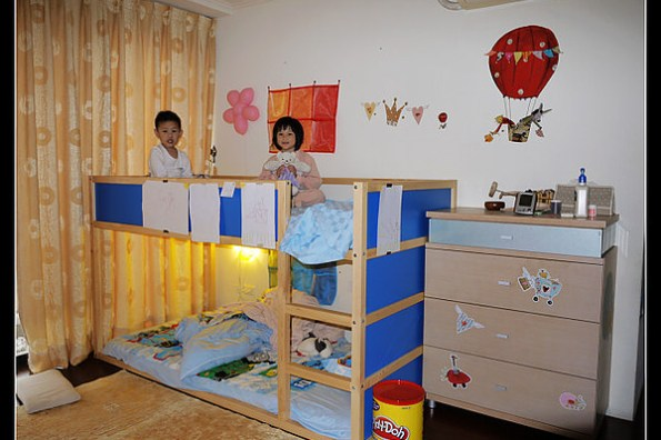 (分享) IKEA兒童寢具 親手打造四坪大的小孩房
