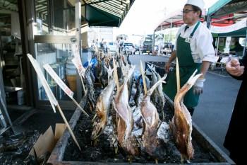 PIA Bandai 新潟市場走一遭 日本海側最大級海鮮市場 現買現烤現吃最美味啊啊啊!にぎわい市場 ピアBandai