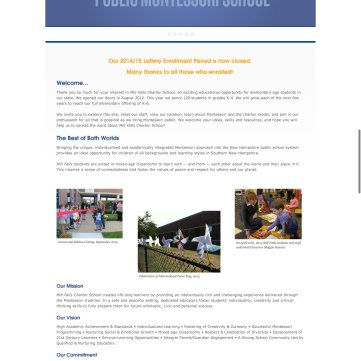 Old Mill Falls homepage