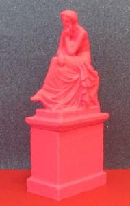 3D-Druck einer 3D-gescannten Statue samt Sockel