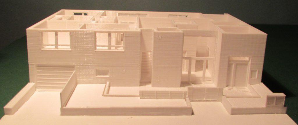 3D-gedrucktes Modell eines Wohnhaus-EGs
