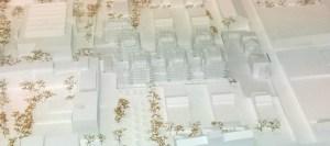"""3D-gedrucktes Einsatzmodell im Maßstab 1:500 für das Projekt """"Himmlischer Wohnflair Breitensee"""""""