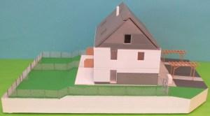 3D-gedrucktes Modell einer Reihenhausanlage