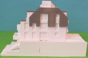 3D-gedrucktes Modell eines Architektenhauses