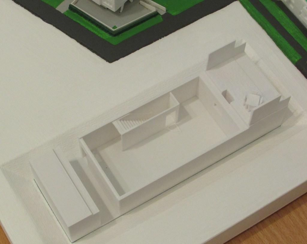 """3D-gedrucktes Modell des Projektes """"Grüne Vielfalt Oberlaa""""  der Firma Mischek"""