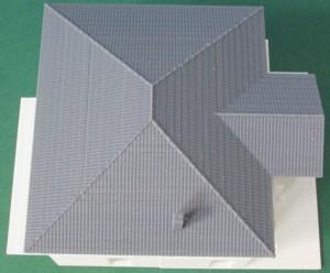"""3D-gedrucktes 1:100 zerlegbares Modell des """"NEW Design V"""" von VARIO FERTIGHAUS"""