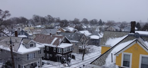 Snow over the rooftops
