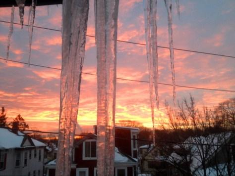 Icicle Sunrise