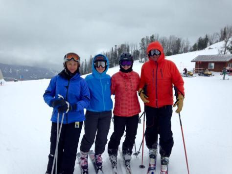 skiing at Big Sky