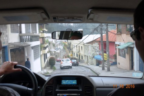 Tomas drove us down some steep cobblestone roads