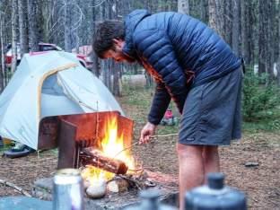 Grant roasting marshmallows