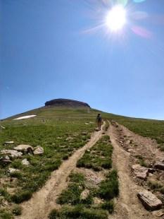 Climbing towards peak