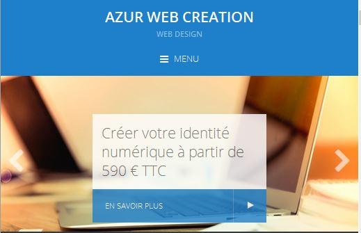 Azur Web Création, création de sites internet