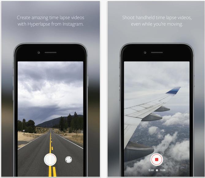 Instagram Apps Hyperlapse Screens