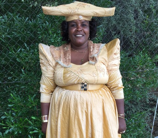 Came across this woman in Okahandja wearing traditional Herero dress, complete with petticoats. Her unique headress is designed to resemble the horns of the cattle that the Hereo revere. It's a fairly common sight and not just on special occasions.