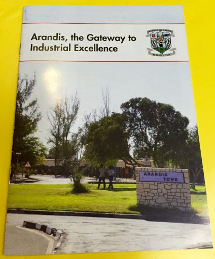 "My ""client,"" the Arandis Town Council, provided this brochure in my site information package."