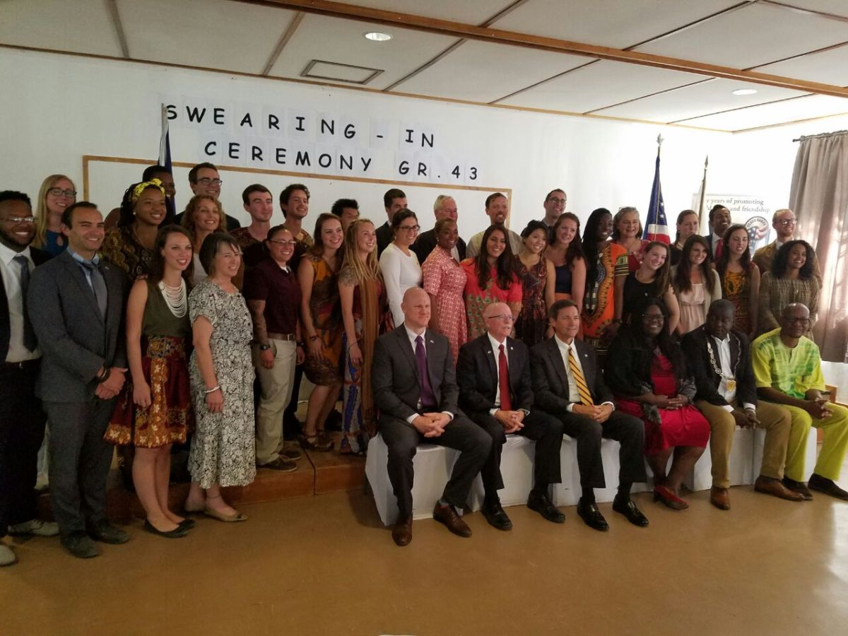 We're Namibia's newest Peace Corps volunteers!
