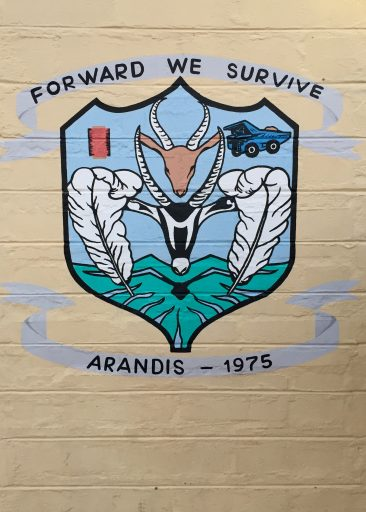 There's a recognition of our challenges in everything we see - here the Arandis Town crest.