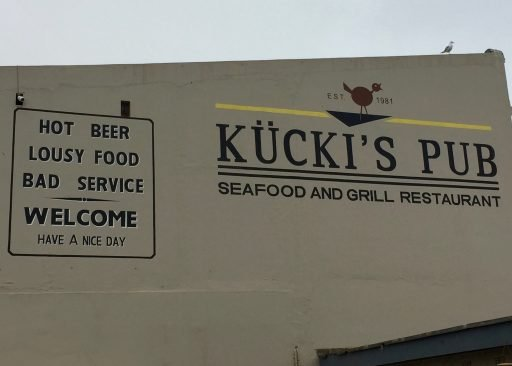 Swakopmund has a touch of Europe, even down to the ironic comments...