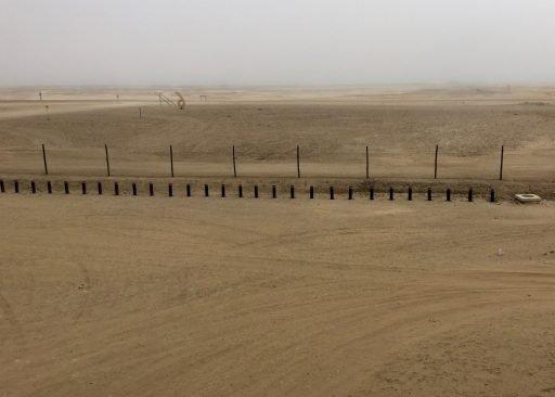 In one direction, the Atlantic ocean 1 km away (through the coastal fog).