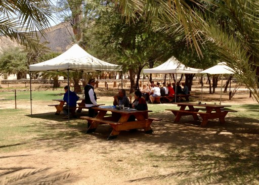 The menu includes a lot of local game: oryx, kudu, springbok as well as goat, sheep, pork and beef.
