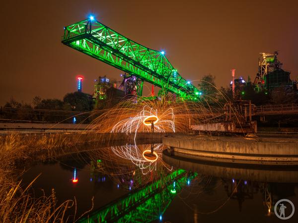 Fotografieren mit Stahlwolle im Landschaftspark Duisburg-Nord