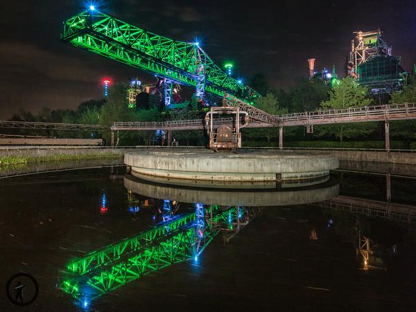 Das grüne Krokodil des Landschaftsparks Duisburg-Nord