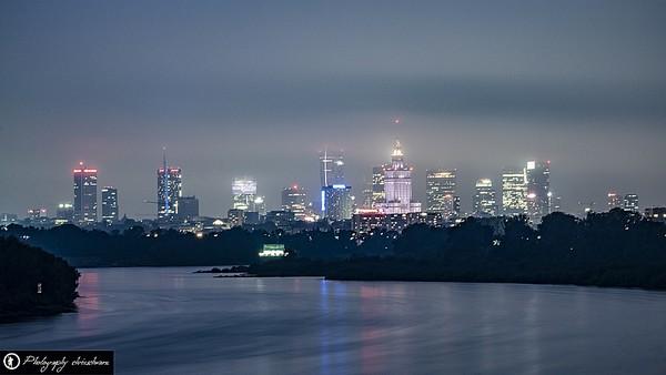 Skyline von Warschau