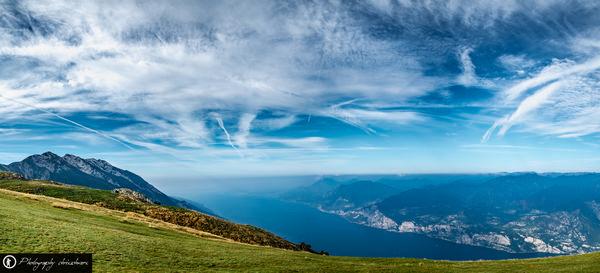 Panorama vom Monte Baldo am Gardasee