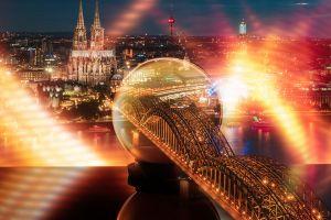 Köln mit Kölner Dom und Hohenzollernbrücke