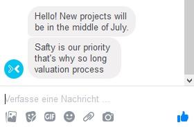 envestio meldete sich via Facebook zu Wort