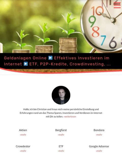 Teaserbild, Verlinkung zum Artikel: geldanlagen-online.de – Neuer Internetauftritt