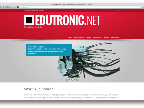 The Main Page of Edutronic.net