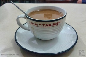 hot coffee with milk (kopi susu hangat)