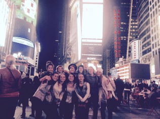 Times Square - Audrey and friends