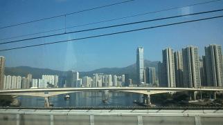 Tsing Yi from the train to the Hong Kong airport