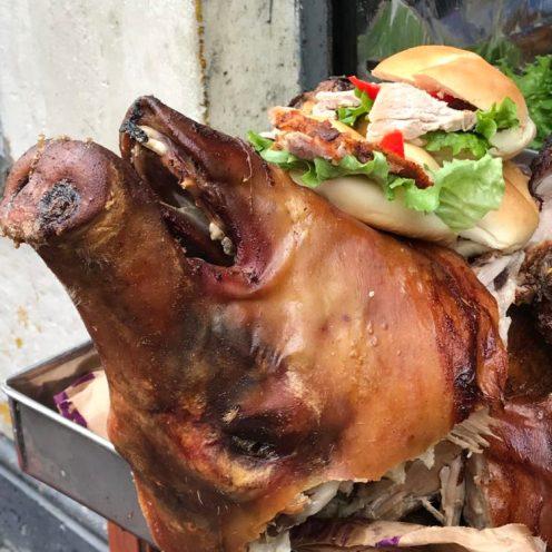 Kanapki z wieprzowiną