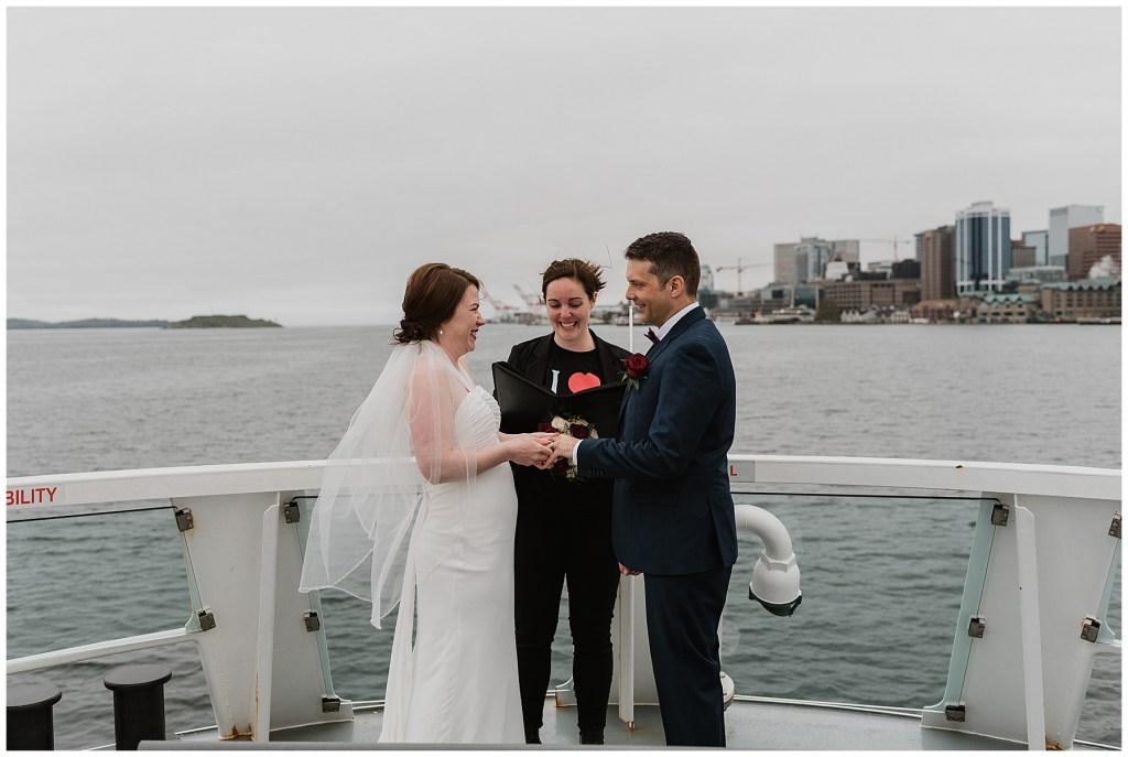 Elopement Ceremony on the Halifax Ferry