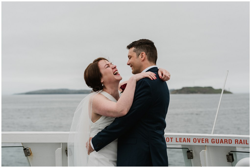 Saying I DO while eloping on the Halifax Ferry