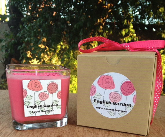 A scented candle gift.