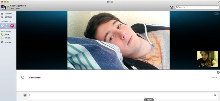 Skype date with Chris. - a way for me to cope.