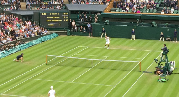 Picture of a tennis match at Wimbledon
