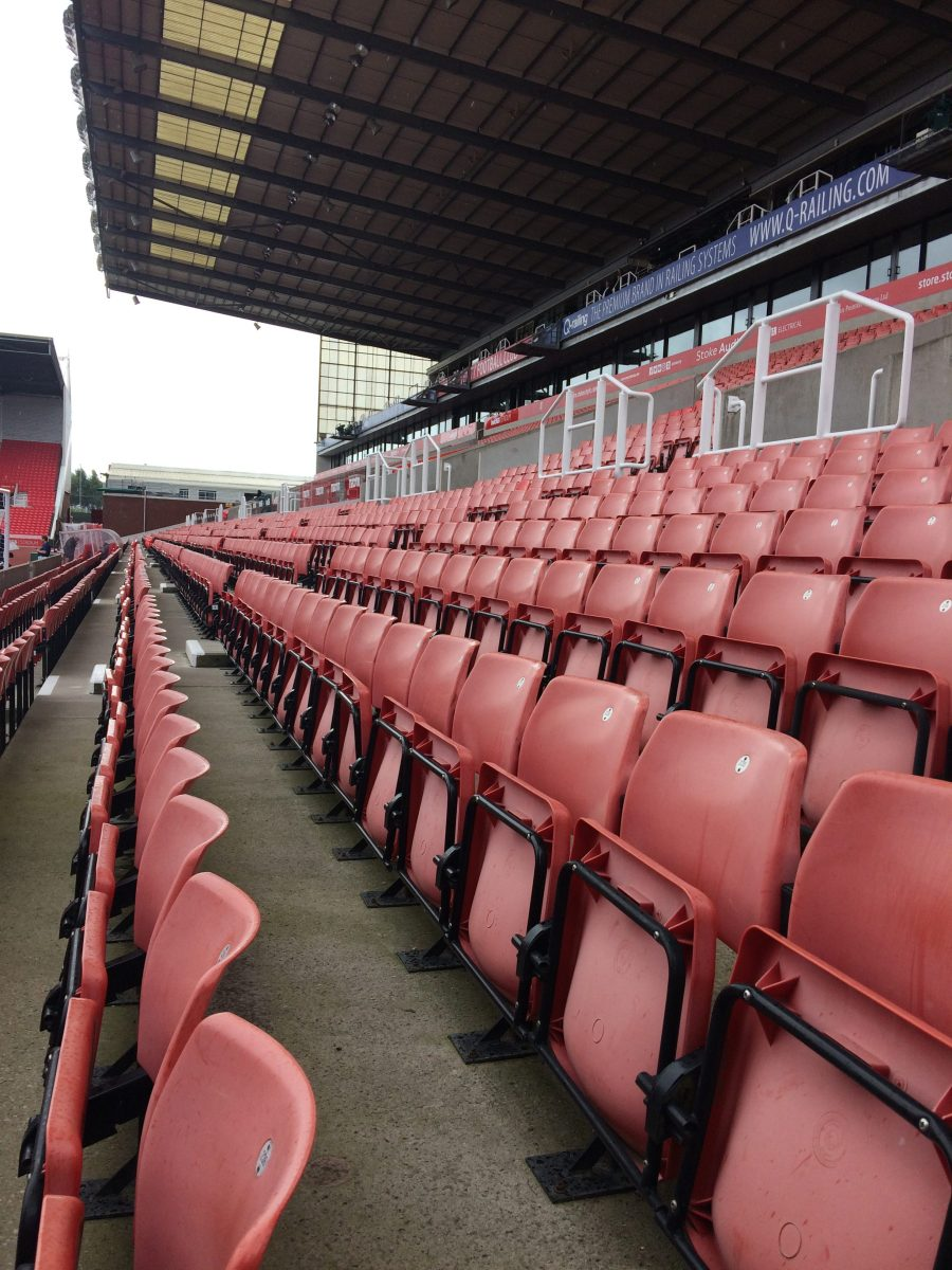 Picture of seats in football stadium