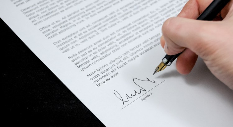 Picture of a contract
